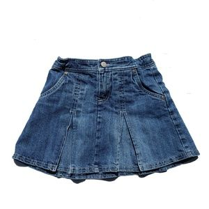 Old Navy Skirt Sz 8 Blue Jean Denim Modesty Shorts